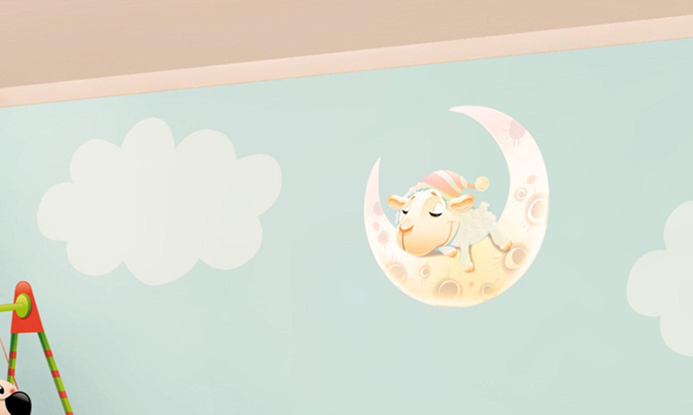 Dipinti Murali Per Camerette stickers murali bambini - cameretta cuccioli giocherelloni